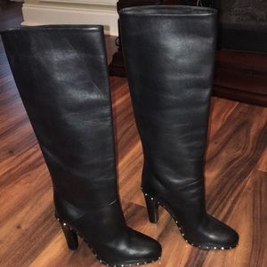Valentino Soul Rock-Stud Tall Leather Boots
